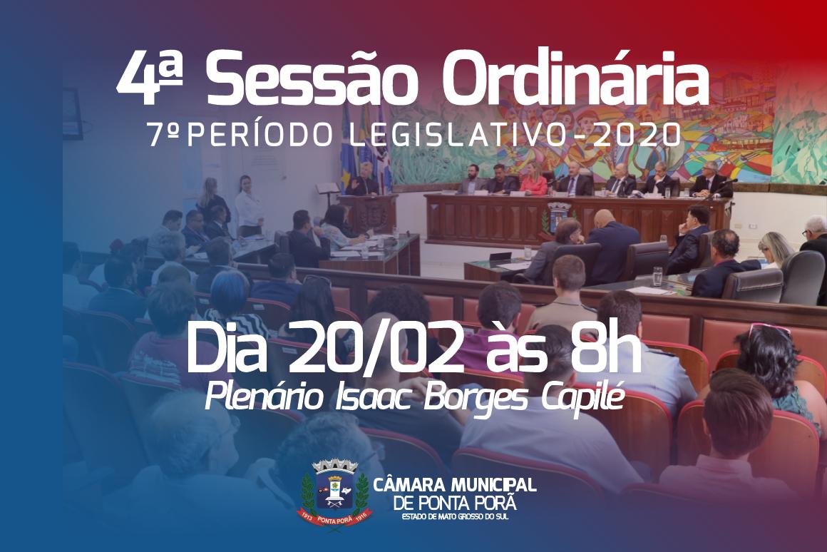 Câmara de Ponta Porã antecipa sessão ordinária para esta quinta-feira