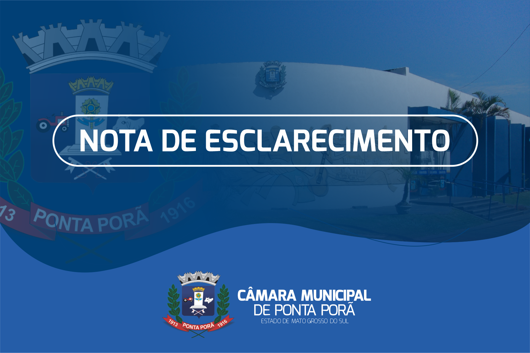 Nota de esclarecimento da Presidência da Câmara Municipal de Ponta Porã